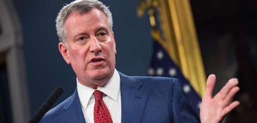 Mayor Bill de Blasio in a file photo.
