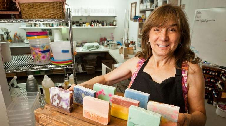 Angela Carillo, owner of Bethpage-based Alegna Soap, says