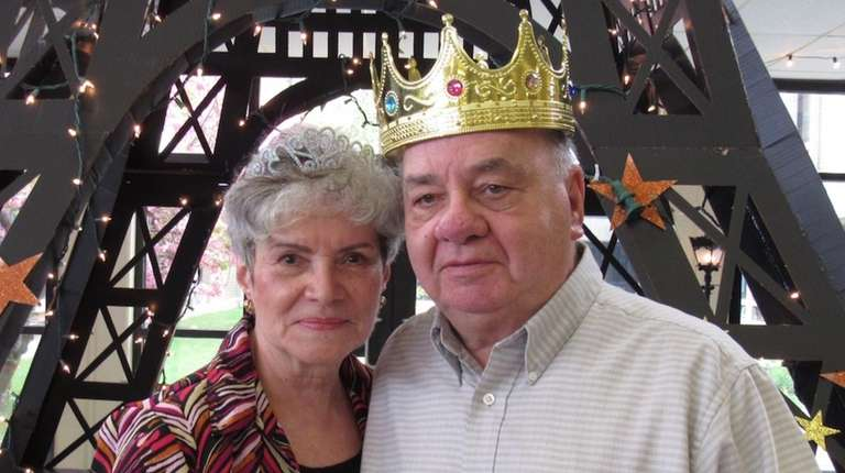 Minnie and Bob Cooke were crowned king and