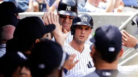 New York Yankees' Greg Bird, No. 33, and