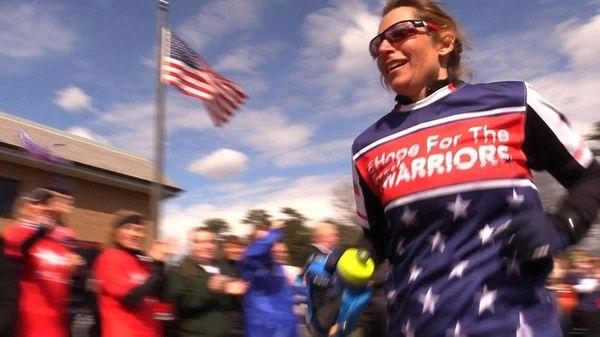 Eva Casale runs the last leg of seven