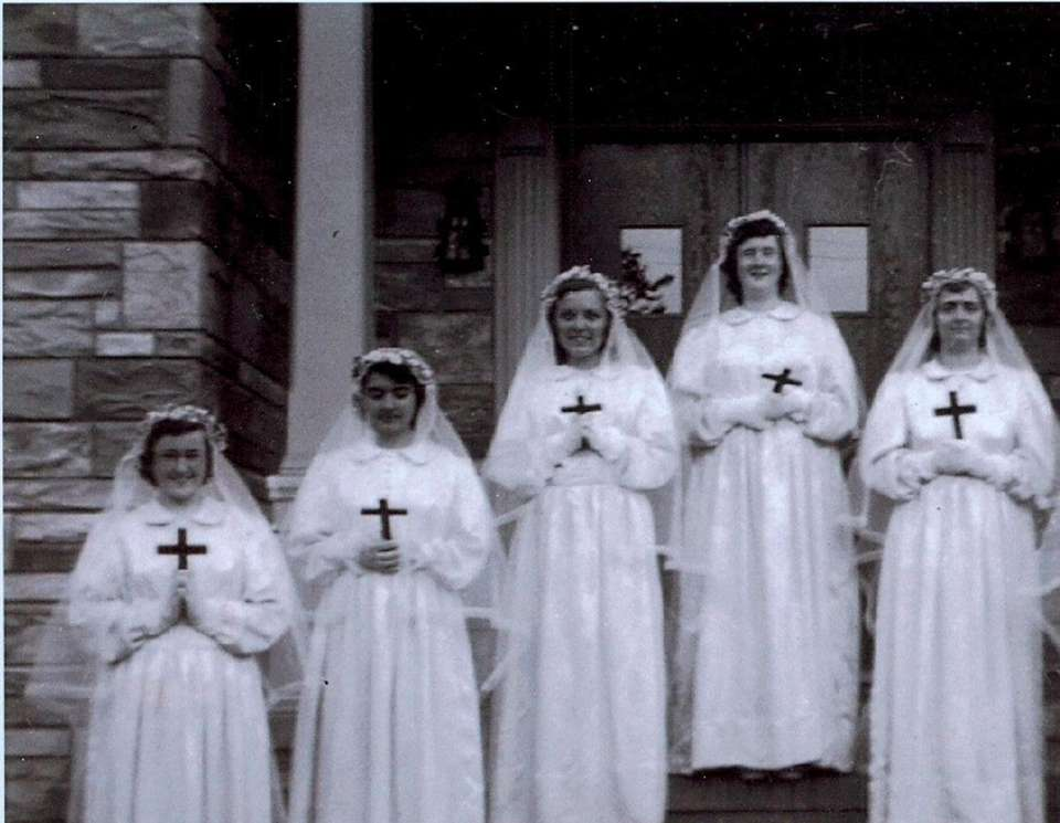 Clothing Day Novitiate, 1951 at the Ursula Convent.