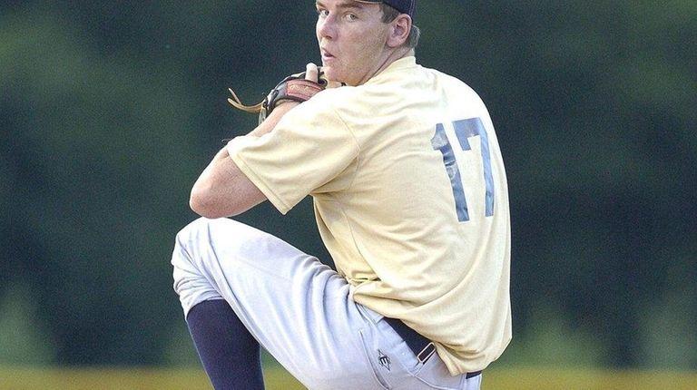 FARMINGDALE-JUNE 12, 2009. Suffolk Countys Starting Pitcher