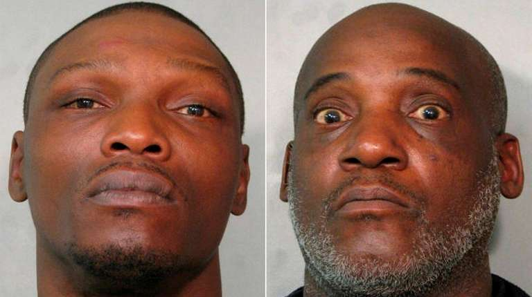 Timothy Robinson, 37, left, and Andrew Strowder, 57,