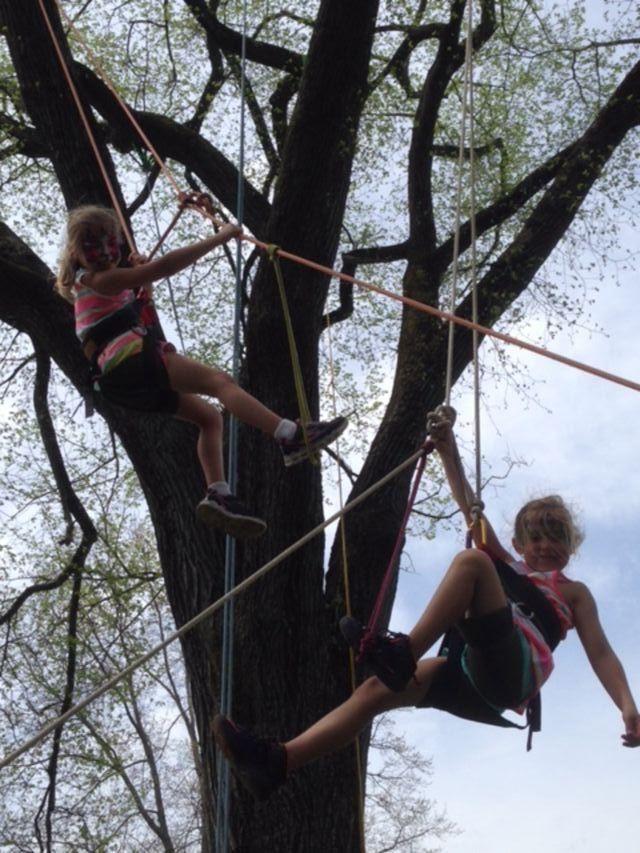 Hailey and Hannah Vidro, age 6, at the