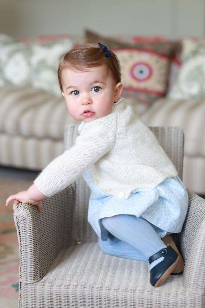 Britain's Princess Charlotte poses at Anmer Hall in