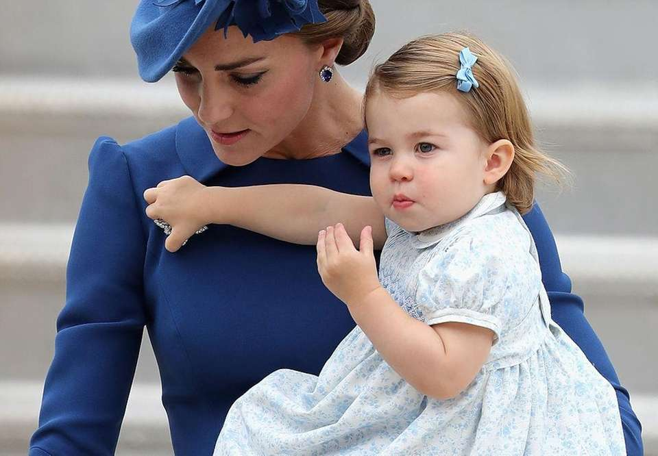 Catherine, Duchess of Cambridge and Princess Charlotte of