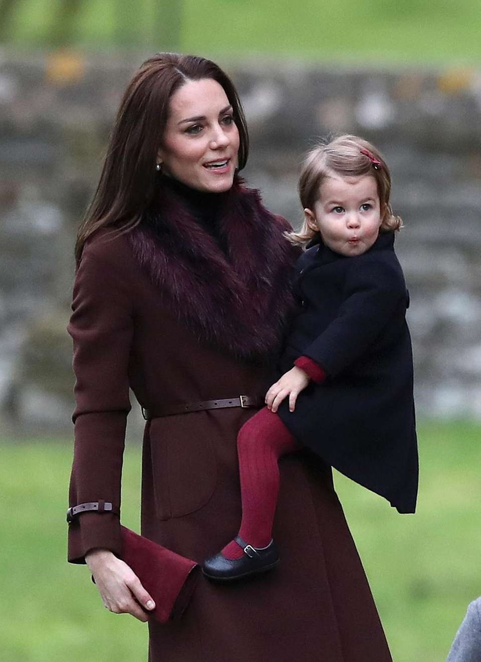 Kate, the Duchess of Cambridge and her daughter