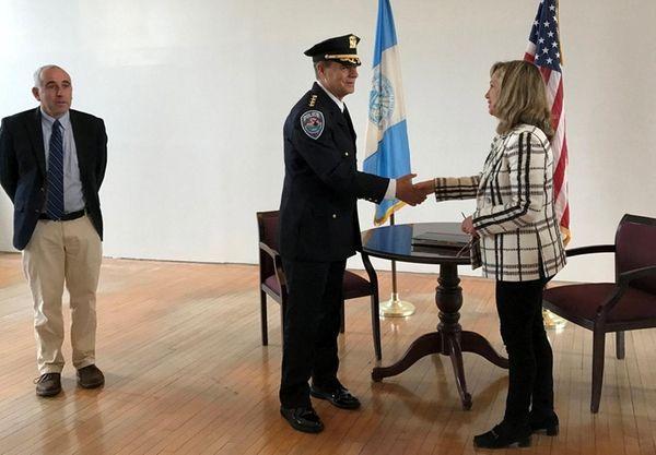 Southampton Police Chief Steven Skrynecki gets sworn into