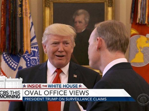 President Donald Trump, in a CBS News interview