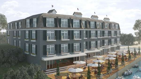 The proposed Waters Edge inn in Bayville envisions