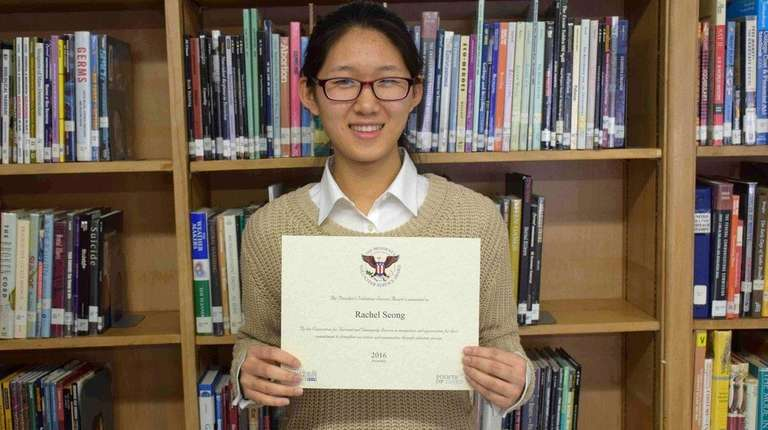 Rachel Seong, a senior at W. Tresper Clarke