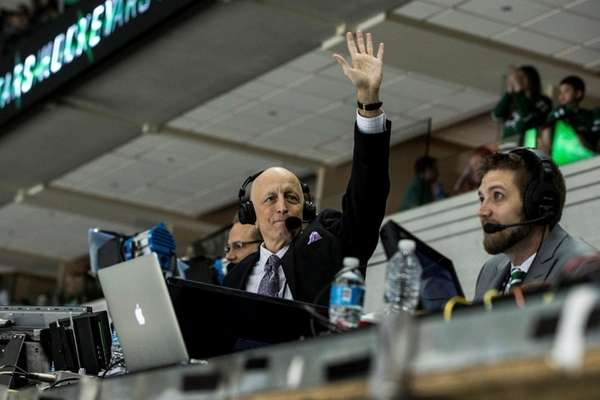 Photo of NBC hockey announcer Dave Strader.