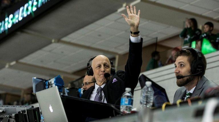 Photo of NBC hockey announcer Dave Strader.