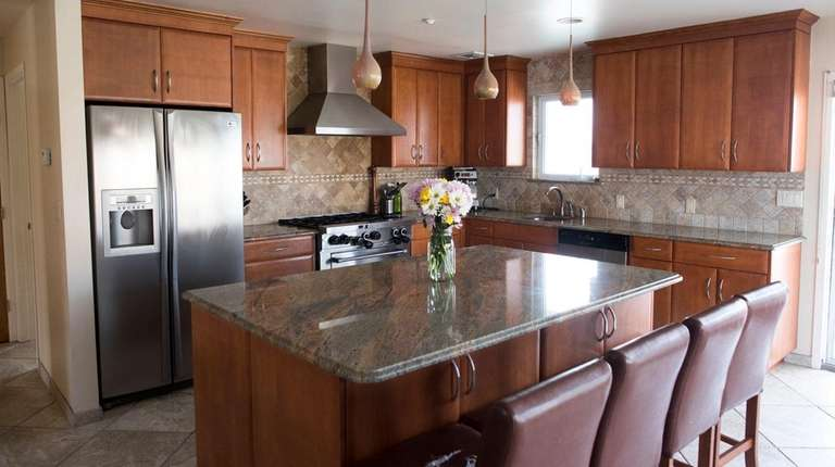 The kitchen in this waterview Lindenhurst house on