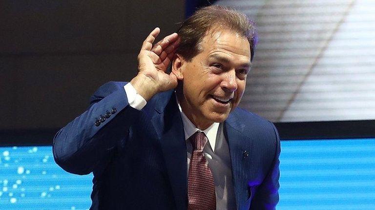 Nick Saban, head football coach at the University