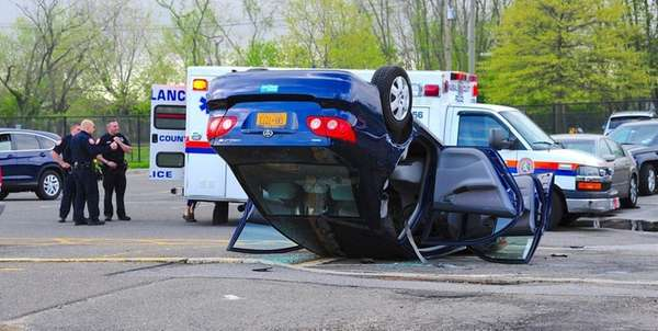 Police investigate a crash Tuesday morning, May 2,