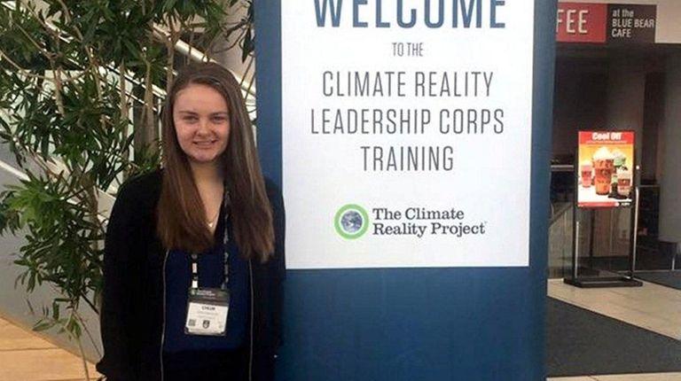 Chloe Gaconnier, a senior at Sayville High School,
