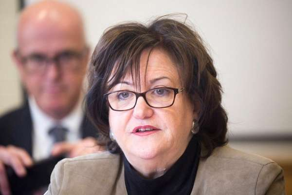 State Education Commissioner MaryEllen Elia in East Moriches