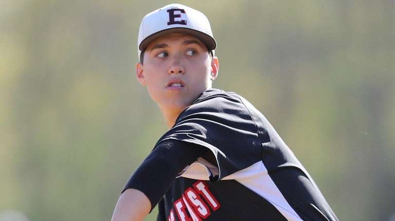 Half Hollow Hills East starting pitcher Patch Dooley