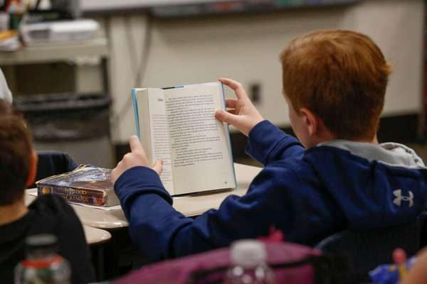 A fifth-grader at Longwood Middle School in Middle
