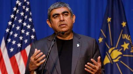Dr. Vishal Sikka, chief executive of Infosys, appearing