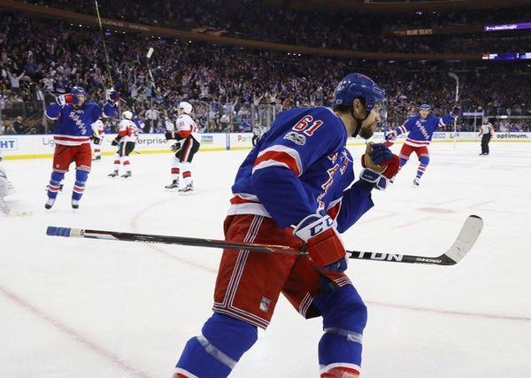 Rick Nash #61 of the New York Rangers