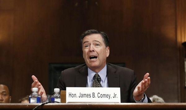 FBI Director James Comey testifies on May 3,