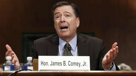 FBI Director James Comey testifies on May 3,