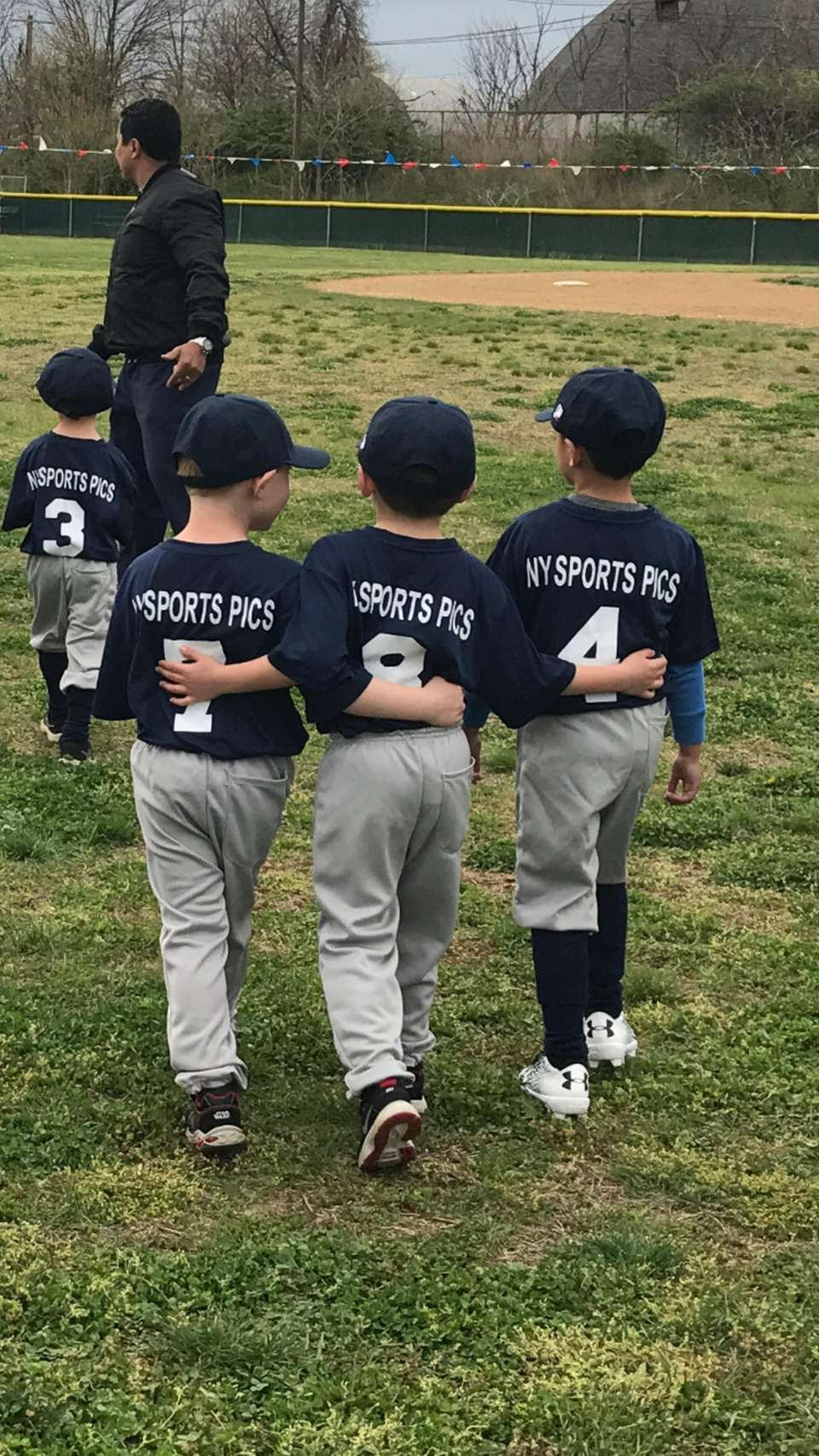 first day of T-Ball for Tyler Martel and