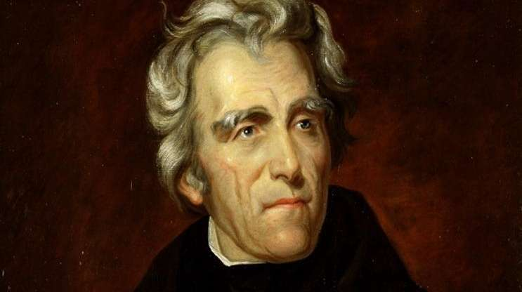 President Andrew Jackson, seen in a painting by