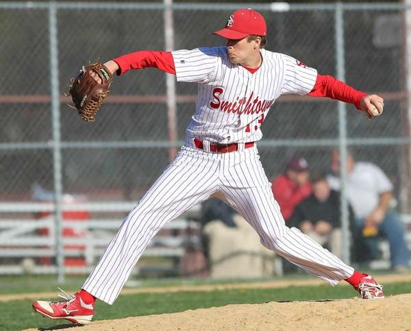 Smithtown East's Tyler Schmid picked up the save