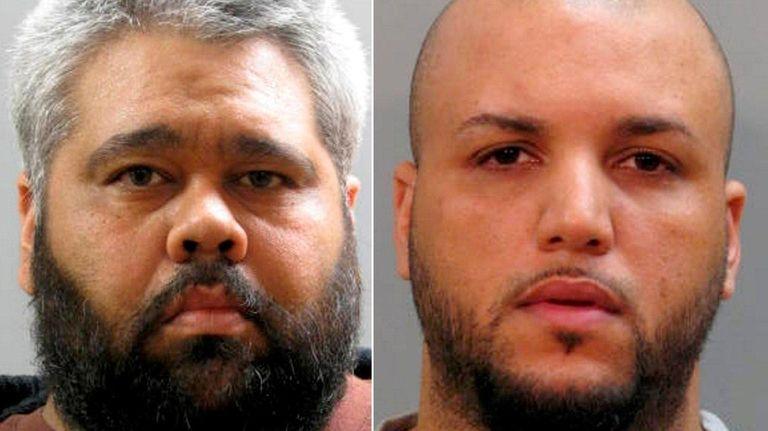 Robert Urena, 35, left, and Carlos Almonte, 29,
