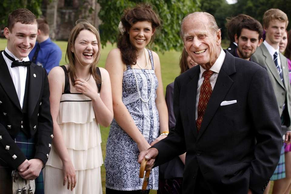 Prince Phillip, the Duke of Edinburgh, attends the