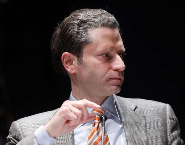 Jeremy Schaap, television reporter from ESPN, moderates a