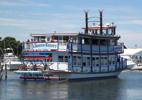 Paddleboat Lauren Kristy leaves the Bay Shore dock