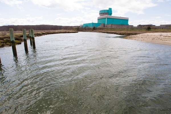 This is the mothballed Shoreham nuclear power plant