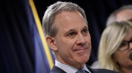 New York State Attorney General Eric Schneiderman takes