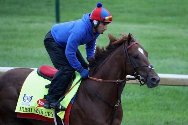 Irish War Cry trains on the track for
