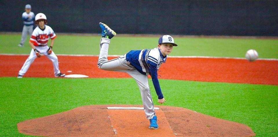 Logan Walsh (9 years old) pitching at Baseball
