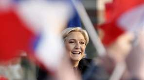 French far-right leader and presidential candidate Marine Le