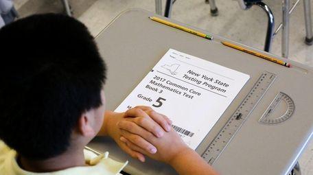 A student in Fanicia Jordan's fifth-grade class at
