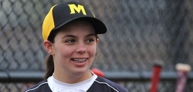 Olivia Roberto of Merrick Avenue Middle School laughs