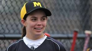 Olivia Roberto of Merrick Avenue Middle School laughs