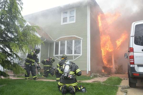 Multiple fire departments were called to a house