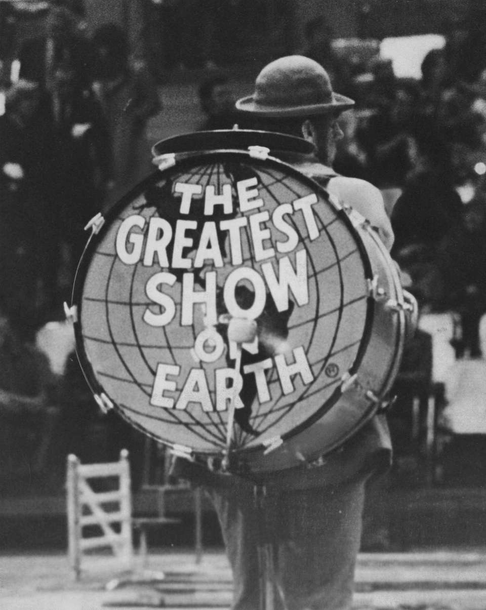 A drum with the Ringling Bros. and Barnum
