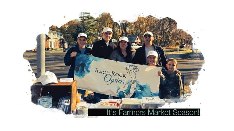 The Mastrangelo family at the Greenport Farmers Market.