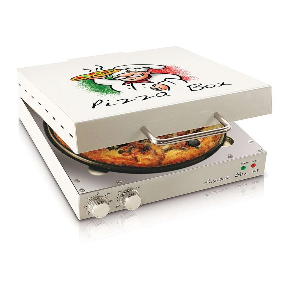 Enjoy pizza anytime with the Pizza Box Oven;