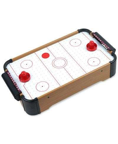 The Mini Tabletop Air Hockey set is great