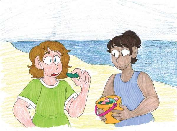 Collecting beach glass is fun hobby on the